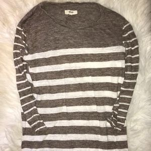 Madewell Brown Heather/White Stripe T